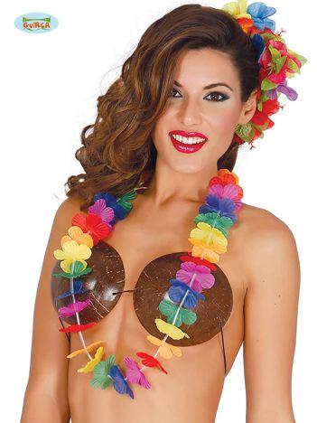 Krótkie kolorowe kwiaty hawajskie na imprezę