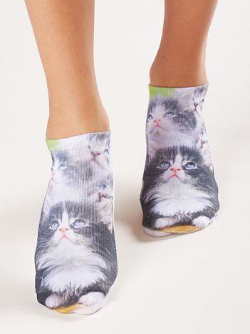 Krótkie skarpetki w koty