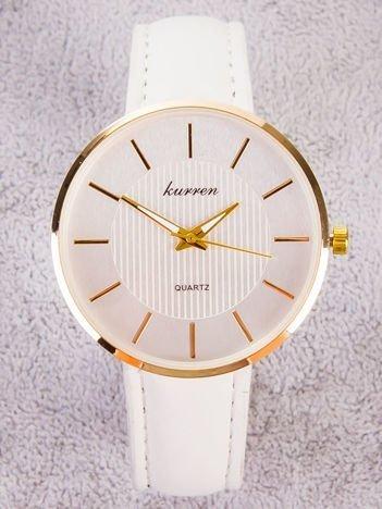 Kurren złoty zegarek damski  z tłoczeniami na tarczy