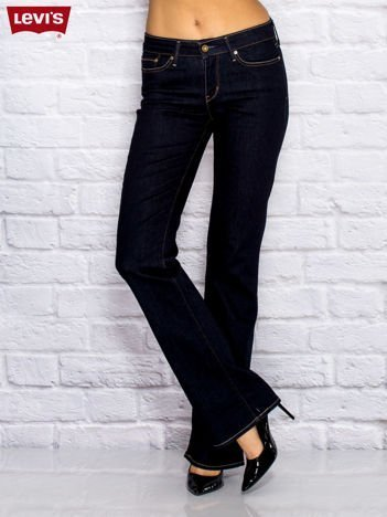 LEVIS Granatowe spodnie jeansowe flared