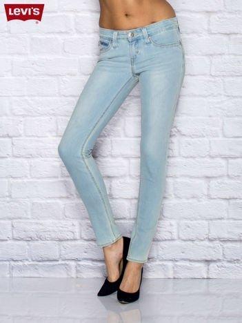 LEVIS Jasnoniebieskie spodnie jeansowe skinny