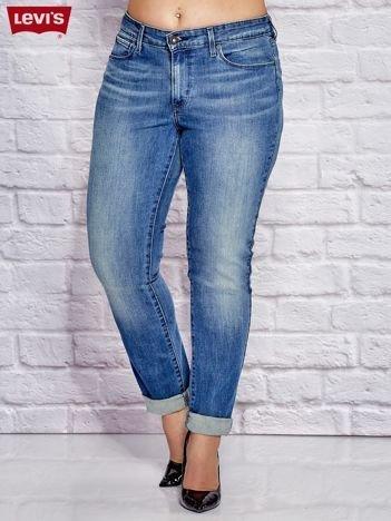 LEVIS Niebieskie jeansy boyfit PLUS SIZE