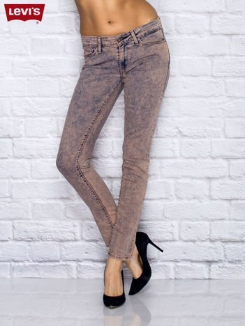 LEVIS Różowe dekatyzowane jeansy