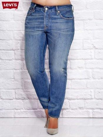 LEVIS Spodnie jeansowe boyfit niebieskie PLUS SIZE