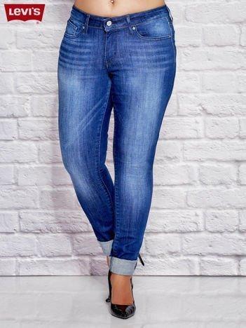 LEVIS Spodnie jeansowe skinny niebieskie PLUS SIZE
