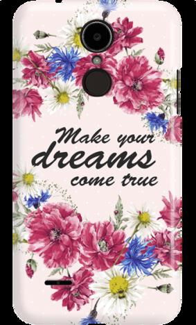 LG K8 2017 DREAMS FLOWERS