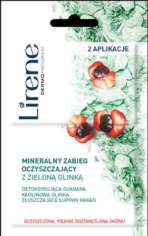 LIRENE Mineralny zabieg oczyszczającyz zieloną glinką (2 aplikacje) 2 x 6 ml