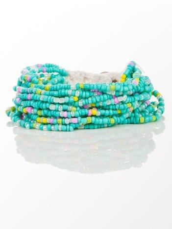 LOLITA Bransoletka kolorowa z koralików zapinana na guzik