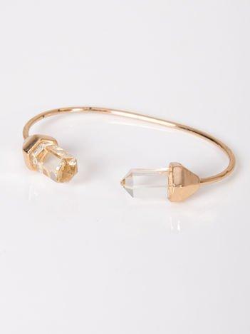 LOLITA Bransoletka złota z dużymi kryształowymi kamieniami typu sople