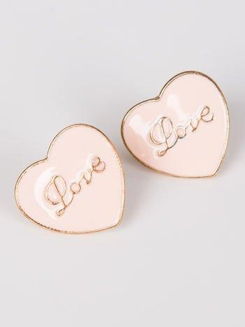 LOLITA Kolczyki damskie różowe serduszka Love