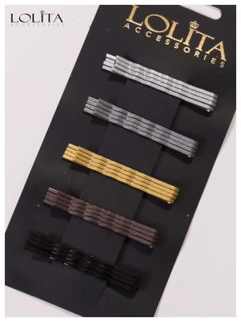 LOLITA Spinki do włosów wsuwki 20 szt srebrne,szare,złote,brązowe,czarne