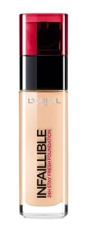 L'Oreal Infallible 24H Foundation długotrwały podkład do twarzy 125 Natural Rose 30 ml