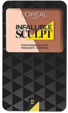 L'Oreal Infallible Sculpt Contouring Palette paleta do konturowania twarzy 01 Light/Medium 10 g