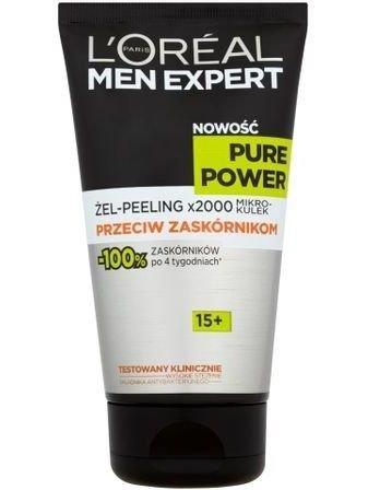 L'Oréal Men Expert Pure Power 15+ żel-peeling przeciw zaskórnikom 150 ml
