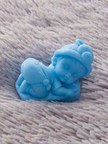 LaQ Mydełko Bobas na poduszce - niebieski