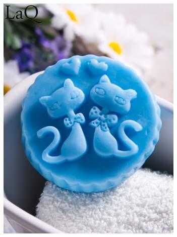 LaQ Mydełko Dwa kotki w medalionie - niebieski / Zapach - wata cukrowa BEZ SLS i SLES