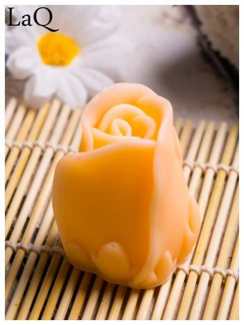 LaQ Mydełko Kwiat róży - pomarańczowy / Zapach - brzoskwinia BEZ SLS i SLES