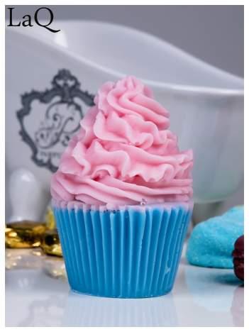 LaQ Mydełko Muffinka - różowo-niebieski / Zapach - truskawka + wata cukrowa BEZ SLS i SLES