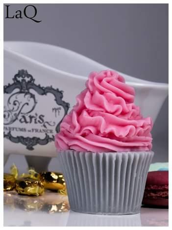 LaQ Mydełko Muffinka - różowo-szary / Zapach - truskawka + wata cukrowa BEZ SLS i SLES