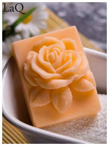 LaQ Mydełko Róża w prostokącie - pomarańczowy / Zapach - brzoskwinia BEZ SLS i SLES