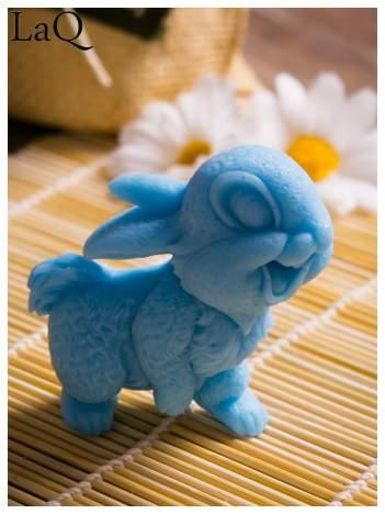 LaQ Mydełko Uśmiechnięty królik - niebieski / Zapach - wata cukrowa BEZ SLS i SLES