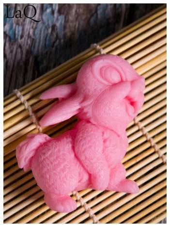 LaQ Mydełko Uśmiechnięty królik - różowy / Zapach - truskawka BEZ SLS i SLES