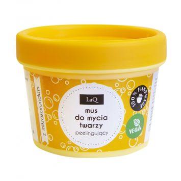 LaQ Naturalny mus do mycia twarzy peelingujący 100 ml
