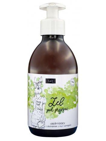 LaQ Żel pod prysznic - kiwi i winogrona. Nie zawiera SLS, SLES, parabenów i silikonów. 300 ml