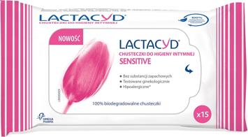 """Lactacyd Sensitive Chusteczki do higieny intymnej  1op.-15szt"""""""