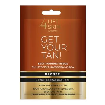 """Lift 4 Skin Get Your Tan Chusteczka Samoopalająca - każdy rodzaj karnacji 1szt"""""""