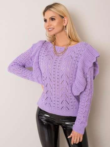 Liliowy sweter Railey OCH BELLA