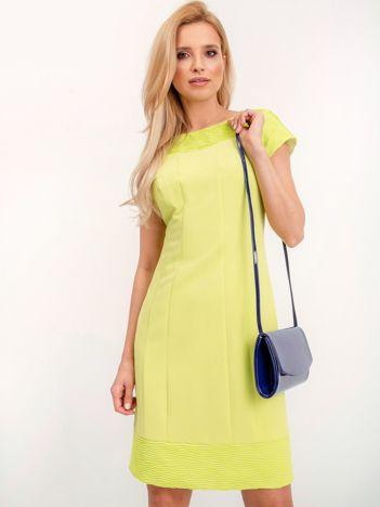 Limonkowa sukienka Honey