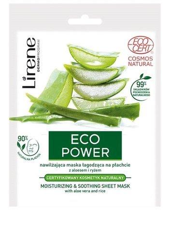 Lirene Eco Power Nawilżająca maska łagodząca na płachcie 25 g