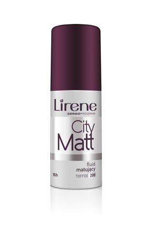 Lirene Fluid matująco-wygładzający City Matt - Toffee 208 30 ml