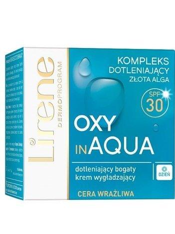 Lirene Oxy in Aqua Dotleniający bogaty krem wygładzający na dzień cera wrażliwa SPF30 50 ml