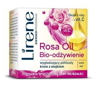 Lirene Rosa Oil Bio - odżywienie wygładzający półtłusty krem z olejkiem 50 ml