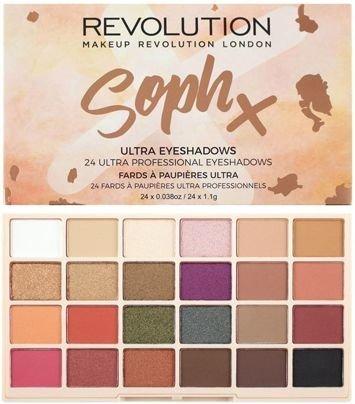 MAKEUP REVOLUTION Paleta 24 cieni SophX Eyeshadow Palette 26,6g