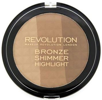 MAKEUP REVOLUTION Puder brązująco-rozświetlający Bronze Shimmer Highlight 15g