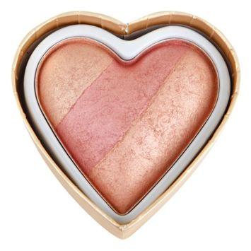 MAKEUP REVOLUTION Wypiekany róż Triple Baked Blusher Blushing Hearts Peachy Keen Heart 10g