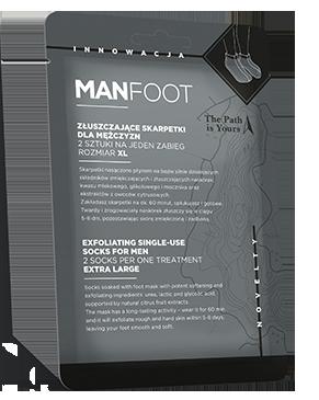 MANFOOT Złuszczające skarpetki dla mężczyzn rozmiar XL