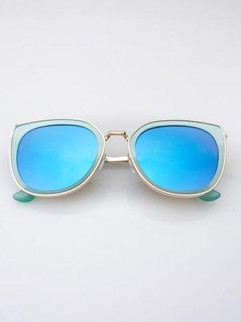 MANNINA Okulary przeciwsłoneczne lustrzanki + miękkie etui gratis
