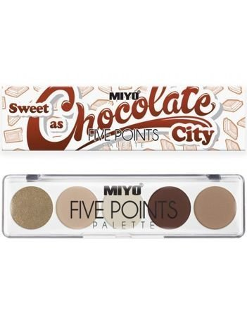 MIYO Paleta 5 cieni FIVE POINTS PALETTE Color Box Edition no.22 6,5 g