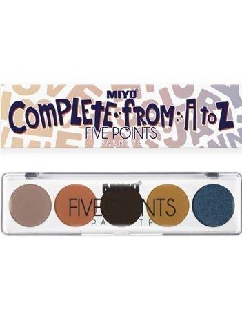 MIYO Paleta 5 cieni FIVE POINTS PALETTE Color Box Edition no.23 6,5 g