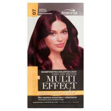 MULTI EFFECT color Keratin complex Szamponetka koloryzująca Głęboki burgund  /07/