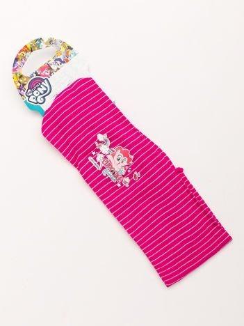 MY LITTLE PONY Opaska do włosów z aplikacją Różowa w białe paski