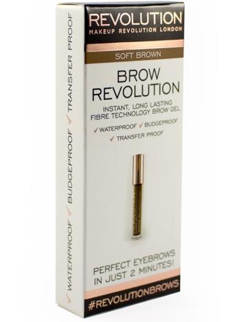 Makeup Revolution Brow Revolution Żel do brwi Soft Brown 3.8g