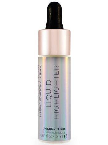 Makeup Revolution Liquid Highlighter Rozświetlacz w płynie Unicorn Elixir 18 ml