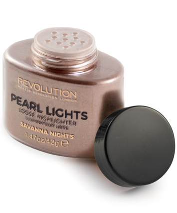 Makeup Revolution Pearl Lights Loose Highlighter Puder sypki rozświetlający Savana Nights 25 g
