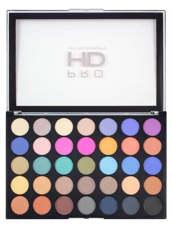 Makeup Revolution Pro HD Amplified 35 Palette Cienie do powiek Defiant 30g (35 kolorów)