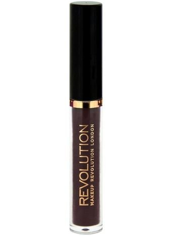 Makeup Revolution Salvation Velvet Lacquer aksamitny lakier do ust Black Heart 15ml